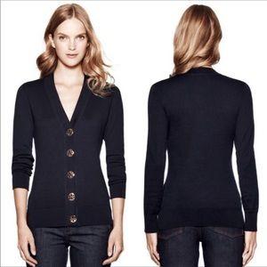 Tory Burch cardigan sweater Simone logo buttons